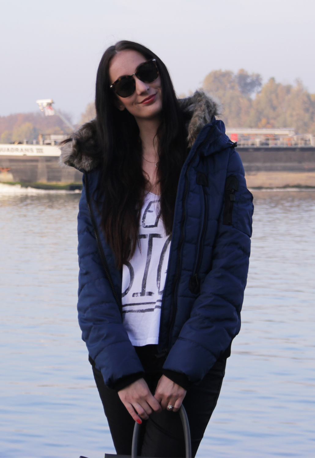 Sublevel Winter Jacket Insignia Blue Defshop OOTD fashion outfit of the day winterjas lifestyle by linda